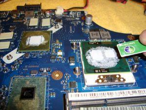 замена термопасты на процессоре в ноутбуке